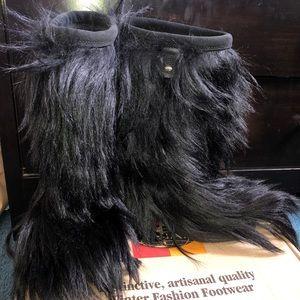 Tecnica Black Fur Boots - Size 8